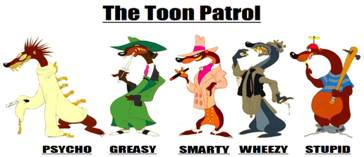 Image the toon patrol. Acting clipart psycho