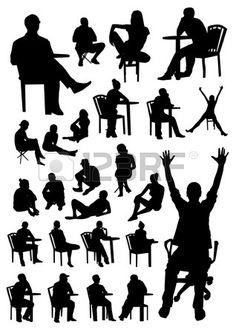Acting clipart silhouette. Man sitting vector graphicssilhouette