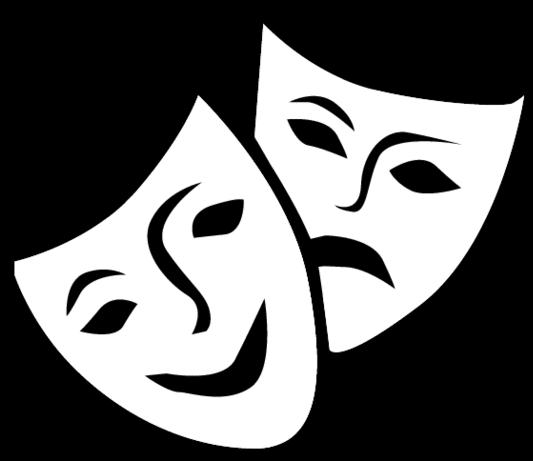 Actor clipart skit. Senior skits drama masks
