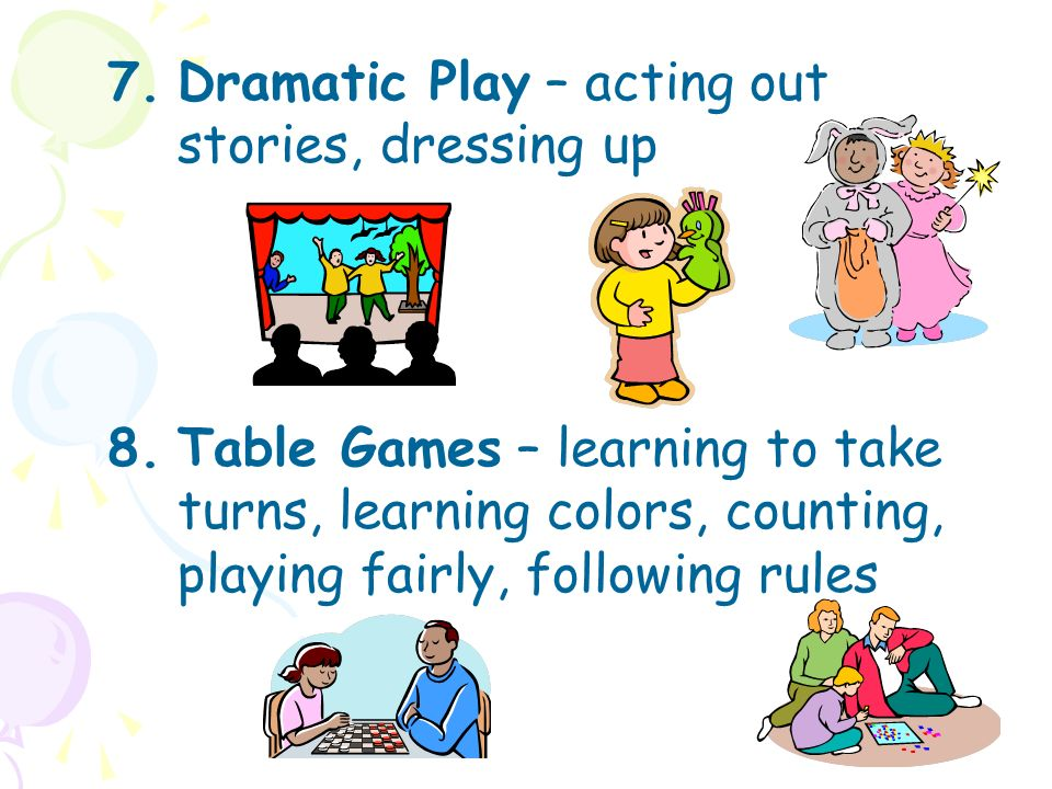 Acting clipart slideshow. Play the importance of