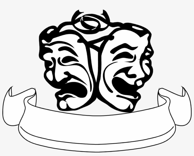 Actor and black white. Theatre clipart speech drama