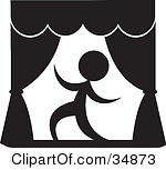 Actors on . Actor clipart stage clipart