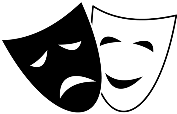 Acting clipart stage clipart. Theatre mask clipground masks