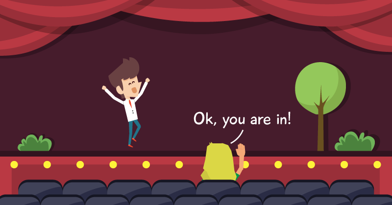 Actor clipart theater actor. From stage to screen