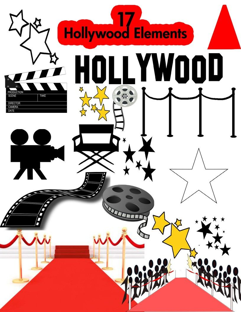 Acting clipart theme. Hollywood party variety club