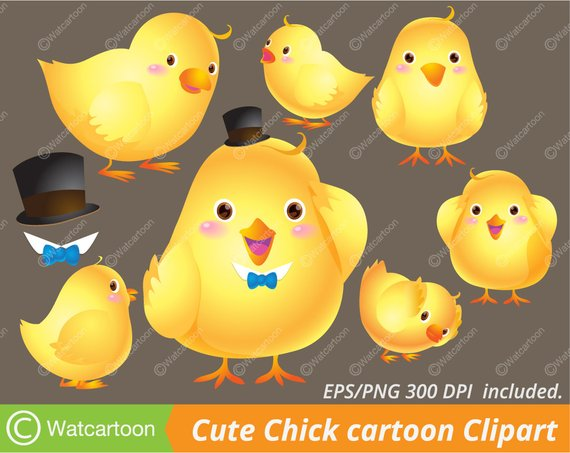 Acting clipart vector. Cute chick cartoon lovely