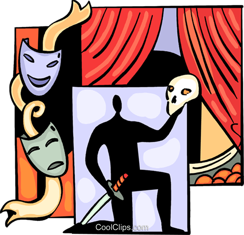 Acting clipart vector. Actor performing hamlet royalty