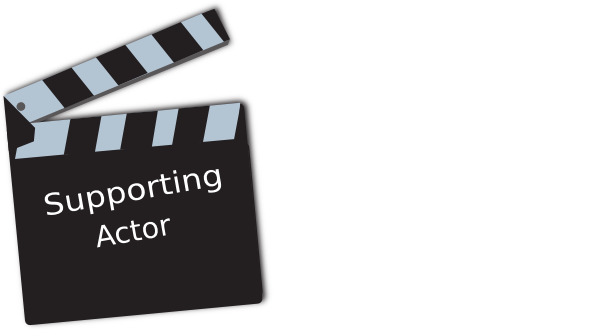 Movie supporting actor clip. Acting clipart vector