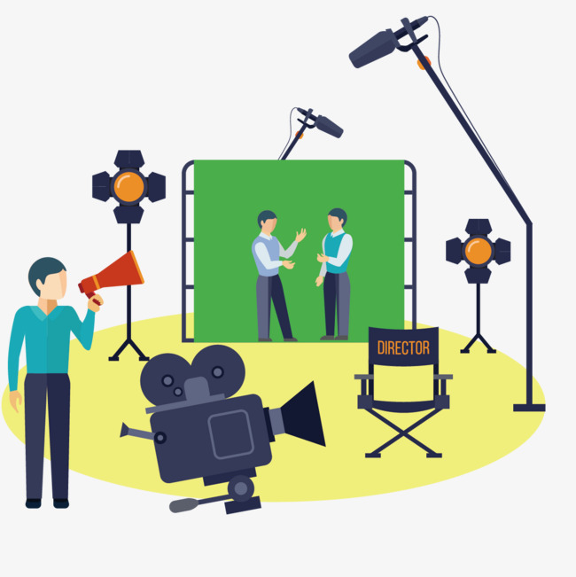 Acting clipart vector. The actor was filming