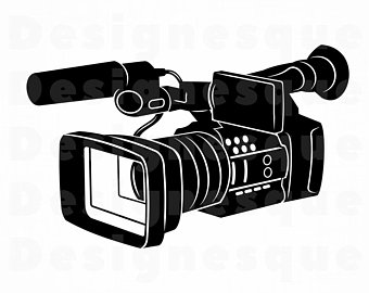 Acting clipart video recording. Camera etsy