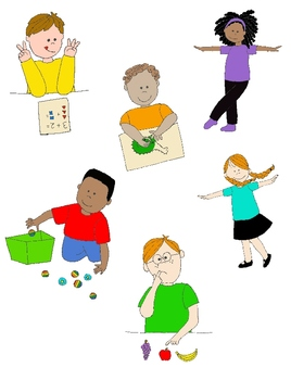 Action clipart. Kids in clip art