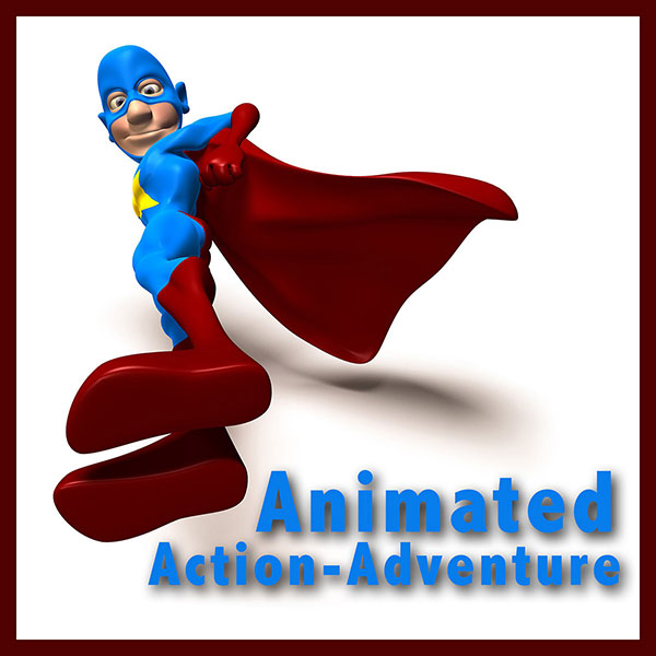 Animated adventure shawn k. Action clipart action genre