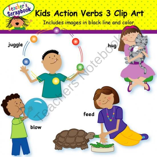 Action clipart action word. Verb words incep imagine