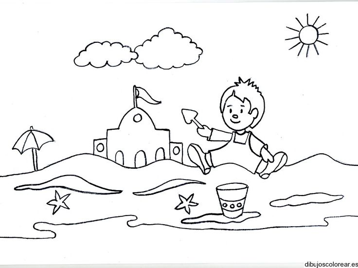 Action clipart black and white. Summer season station