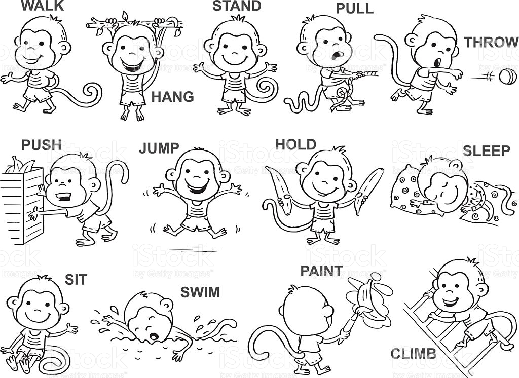 Action clipart black and white.  collection of high