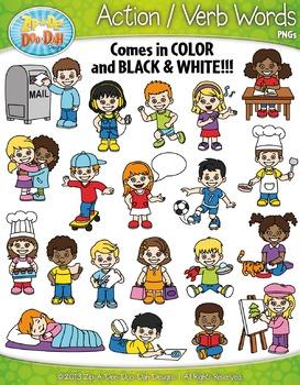 Verbs clip art teaching. Action clipart child action