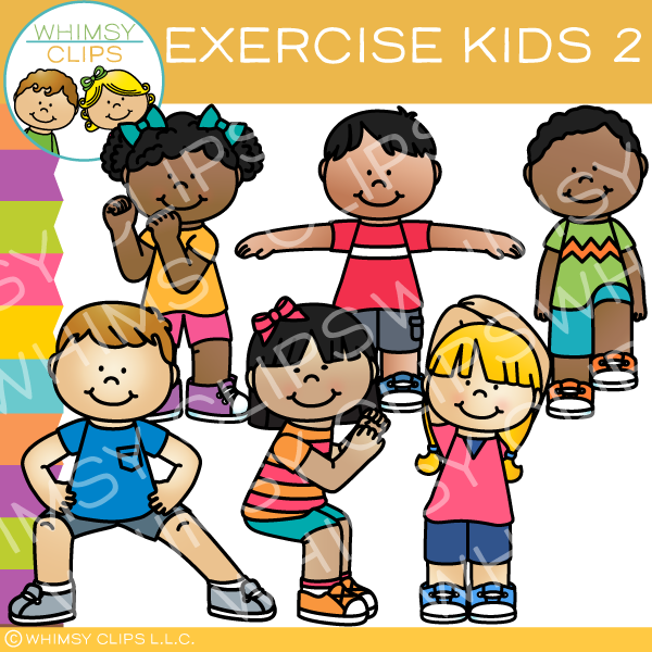 Action clipart child action. Kids in clip art