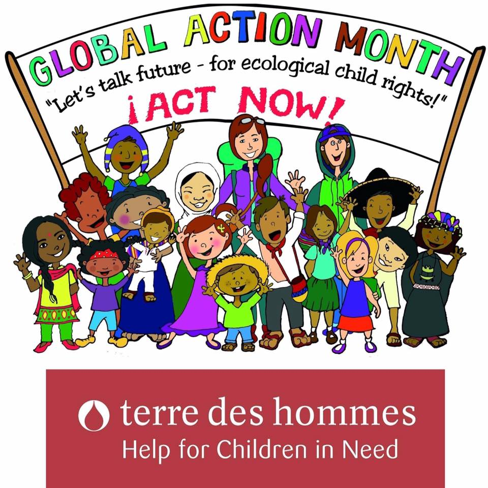 Global month in sea. Action clipart child action