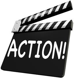 Always a lesson actionclapboard. Action clipart clapboard