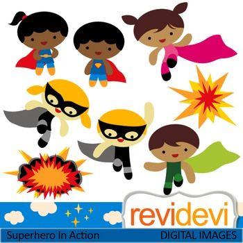 Clip art superhero in. Action clipart classroom