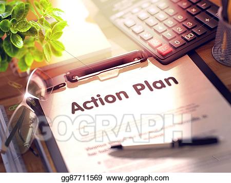 Drawing plan on gg. Action clipart clipboard