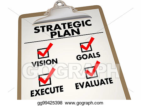 Stock illustration strategic plan. Planning clipart checklist