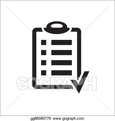 Vector illustration action plan. Checkmark clipart goal