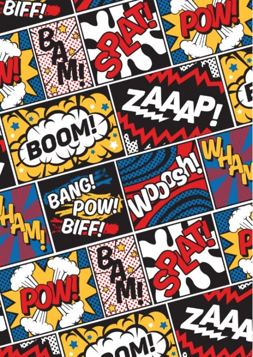 best words images. Action clipart comic book