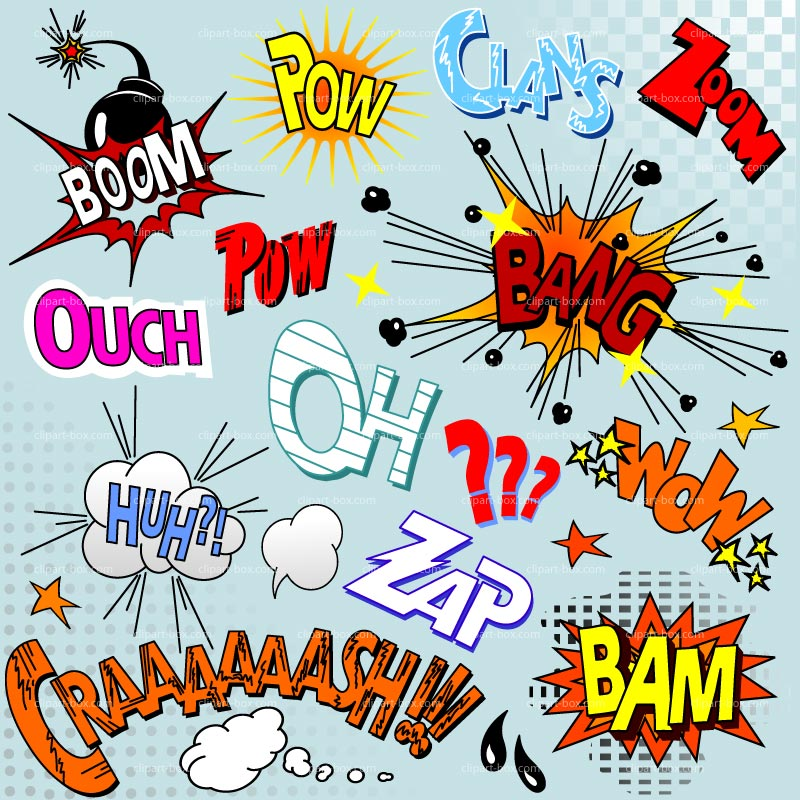 Action clipart comic book. Clip art free download