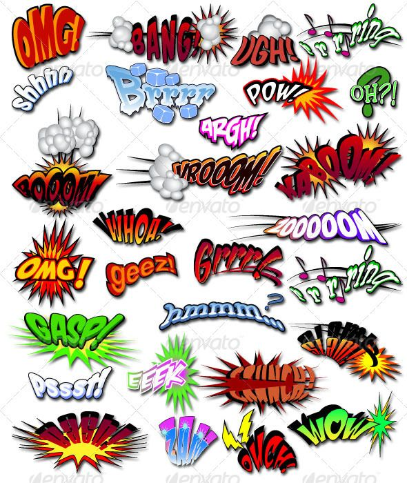 best goodness images. Action clipart comic book