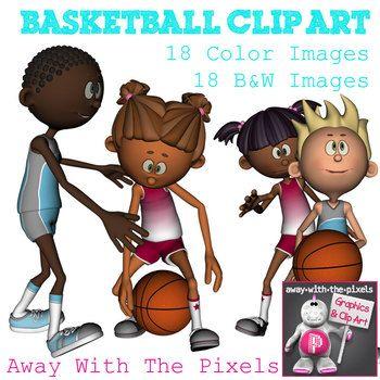 Action clipart different. Basketball sport clip art