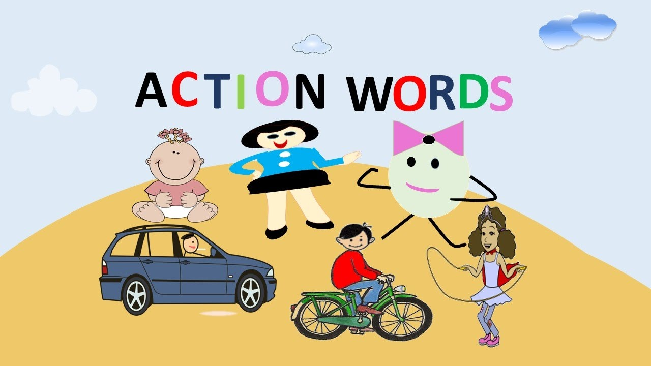 Words for kids learn. Buy clipart action verbs