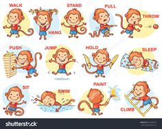Christmas verbs clip art. Action clipart different