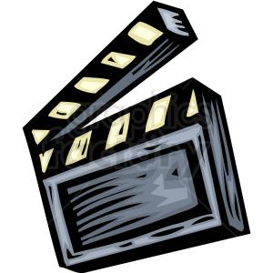 Action clipart director. A film directors tool