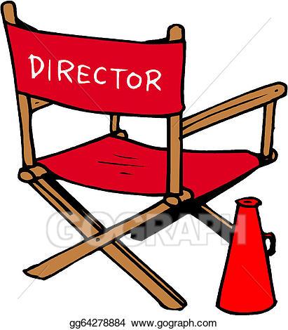 Vector art s set. Action clipart director
