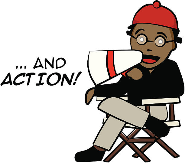 Action clipart director.  collection of film