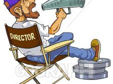 Movie shout panda stock. Action clipart director
