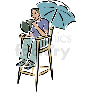Action clipart director. A sitting in chair