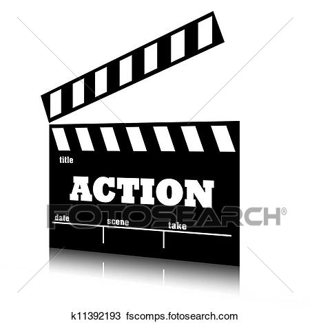 Exclusive Ideas Action Clipart Drawing Of Clap Film Cinema Genre