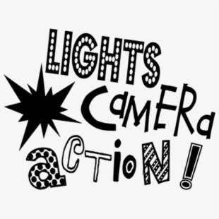 Movie maker film camera. Action clipart documentary