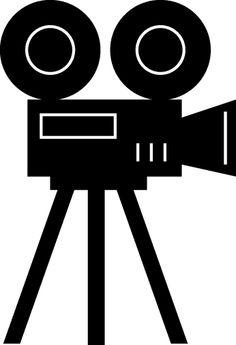 Lights camera lady maylis. Action clipart filmmaking