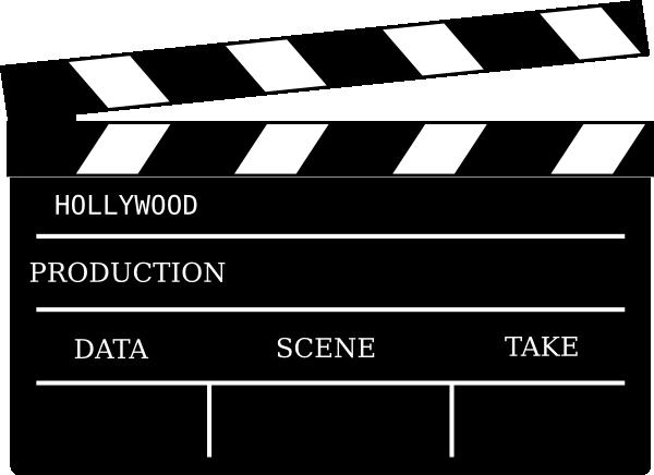 Cinema prop clip art. Action clipart filmmaking