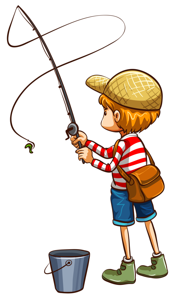 png clip art. Action clipart fishing
