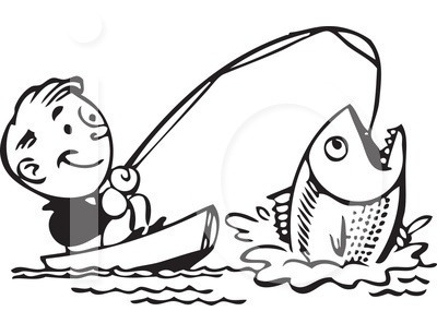 Fishing clipart black and white. Clip art pictures panda