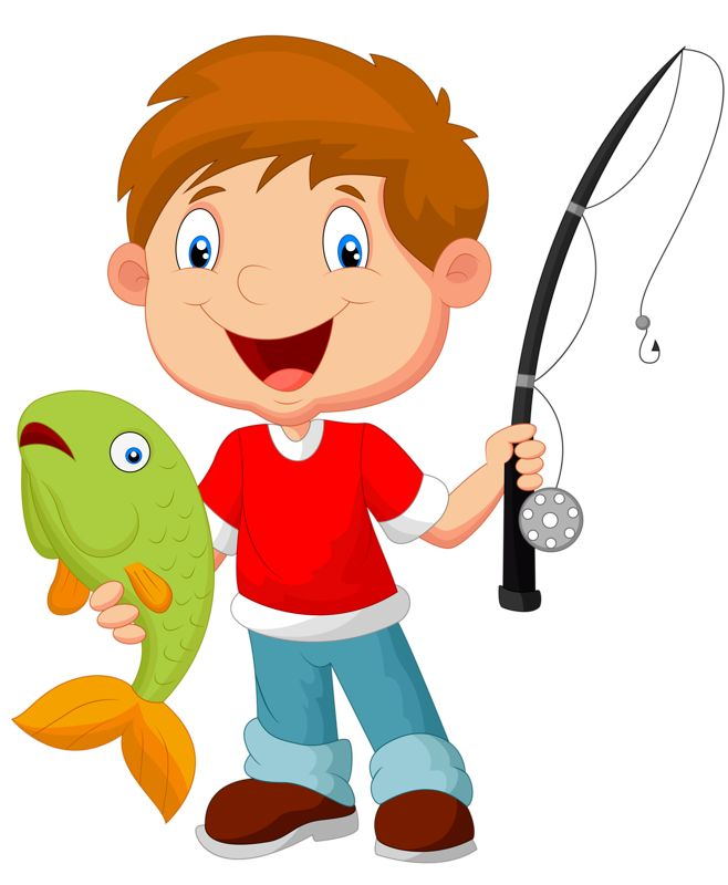 Fishing clipart action