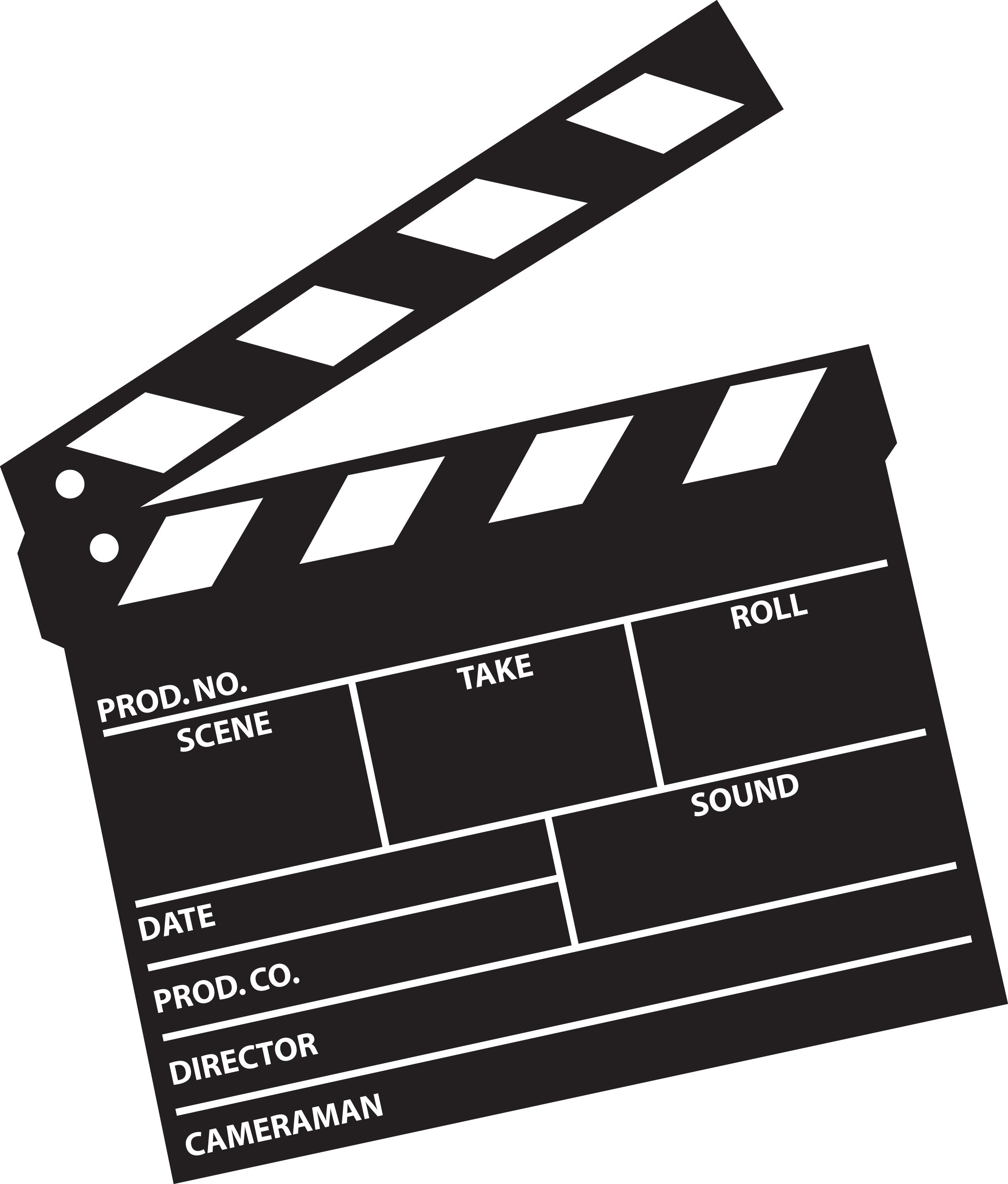 Film clipart clap board. Free hollywood action cliparts