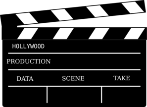 Cinema prop clip art. Action clipart hollywood