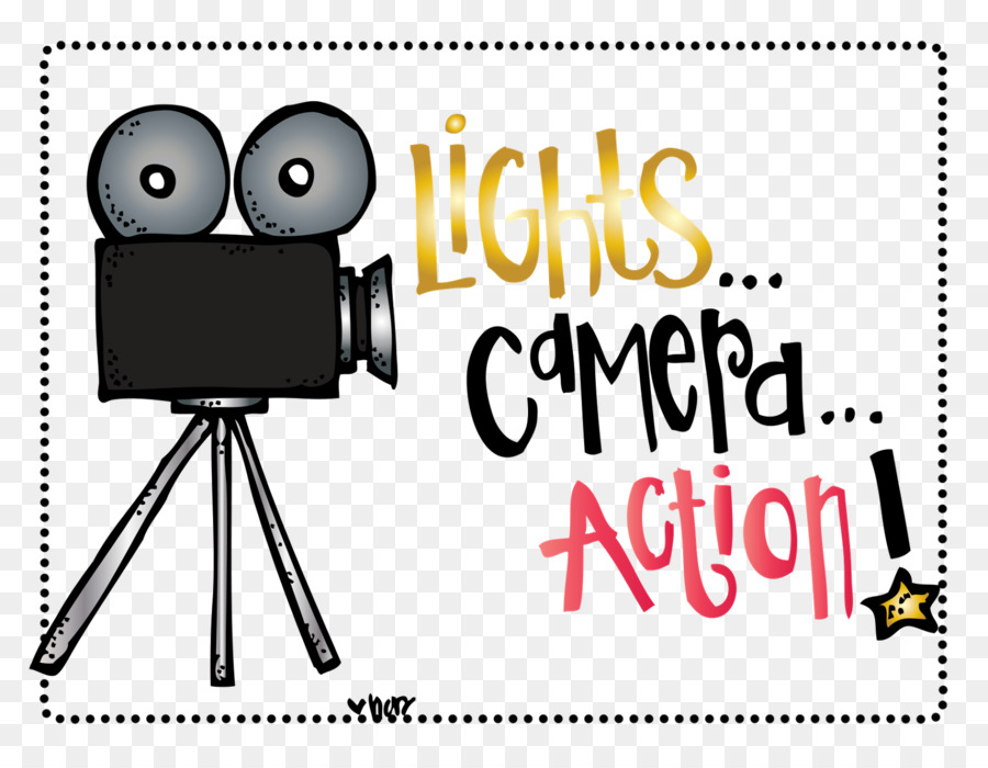 Light camera art clip. Action clipart hollywood