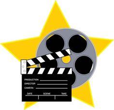 Action clipart hollywood. Movie clip art vector
