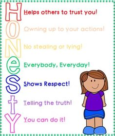 Honesty activities student learning. Action clipart honest